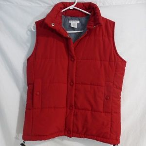 Club Monaco, red, puffer vest, medium